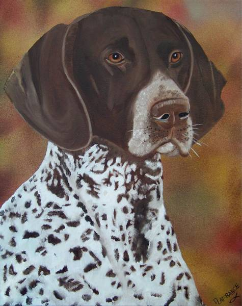 German Pointer Painting - German Shorthair Pointer by Debbie LaFrance