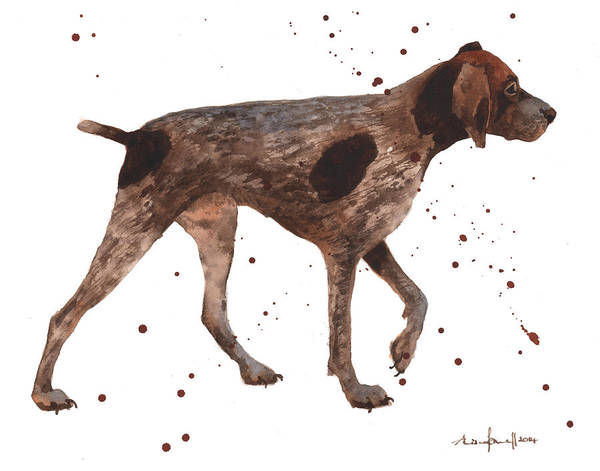 German Pointer Painting - German Shorthaired Pointer by Alison Fennell