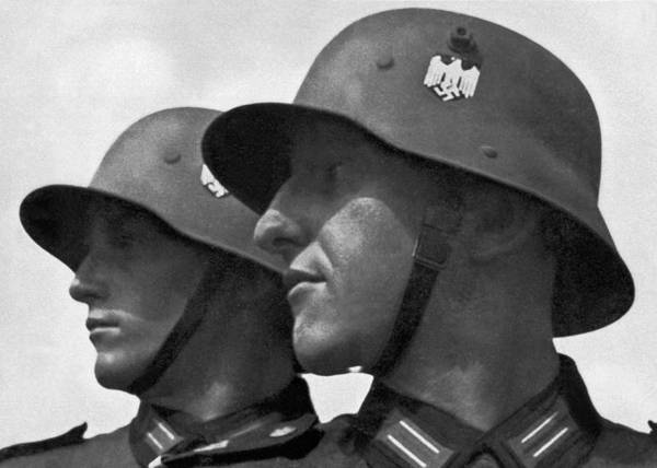 Self Confidence Photograph - German Soldiers Portrait by Underwood Archives