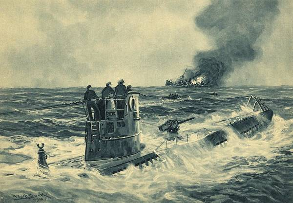 Battle Of The Atlantic Wall Art - Photograph - German U-boat Attack, World War II by Science Photo Library