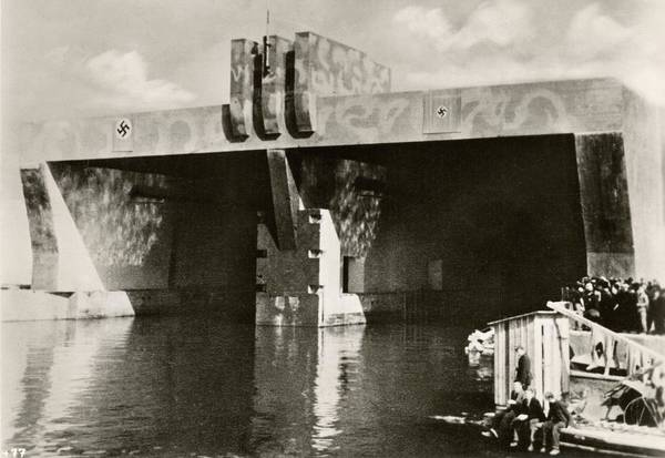 Fortification Photograph - German U-boat Pens by Eye On The Reich: German Propaganda Photographs/new York Public Library