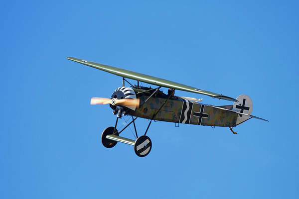 Vintage Airplane Photograph - German Wwi Fokker D-8 Fighter Plane by David Wall