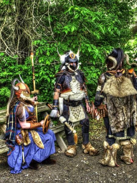 Conan Photograph - Germanics Barbarian Knights V1 by John Straton