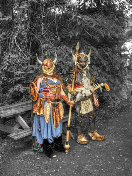 Conan Photograph - Germanics Barbarian Knights V2 by John Straton