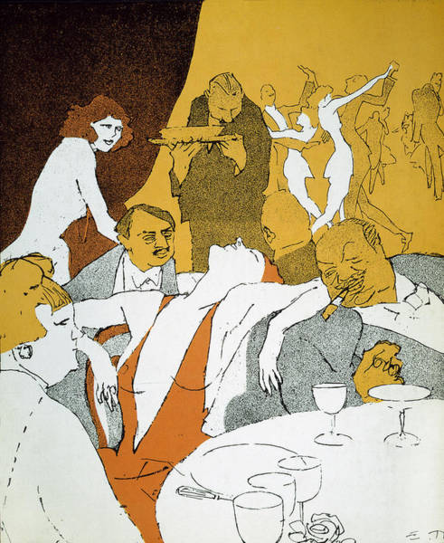 Photograph - Germany, 1920s: Cartoon by Granger