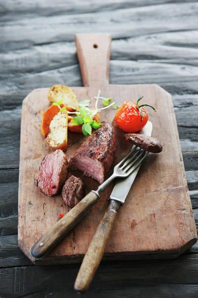 German Food Photograph - Germany, Bremen, Steak With Vegetable by Westend61