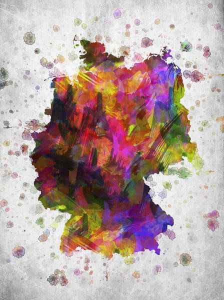 Europe Map Digital Art - Germany In Color by Aged Pixel