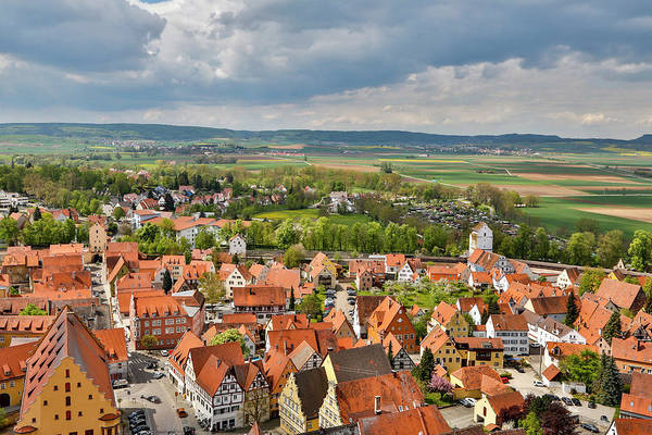 Donau Photograph - Germany, Nordlingen, View Of Nordlingen by Hollice Looney