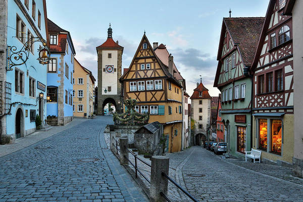 Village Gate Photograph - Germany, Rothenburg Ob Der Tauber by Hollice Looney