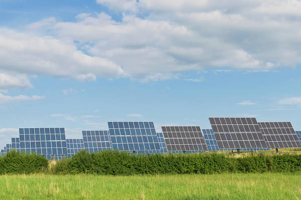 Environmental Issue Wall Art - Photograph - Germany, Saxony, View Of Solar Panels by Westend61