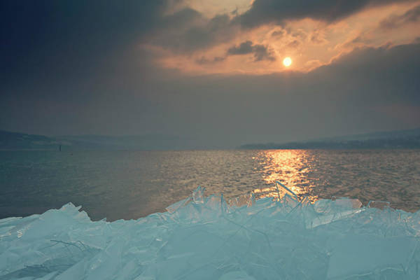Ice Floe Photograph - Germany, View Of Lake Constance During by Westend61