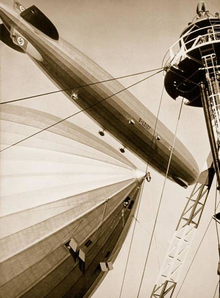 Wall Art - Photograph - Germanys Two Mighty Airships, The Graf by German Photographer