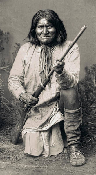 Frontier Photograph - Geronimo - 1886 by Daniel Hagerman