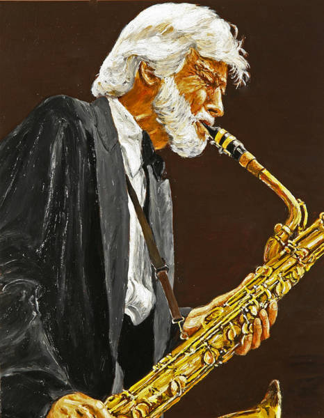 Wall Art - Painting - Gerry Mulligan by Rudy Browne