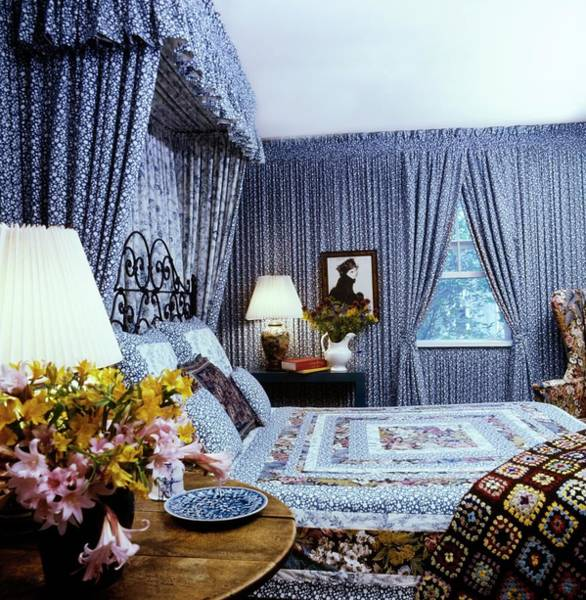 Canopy Photograph - Gerry Stutz' Guest Bedroom by Horst P. Horst