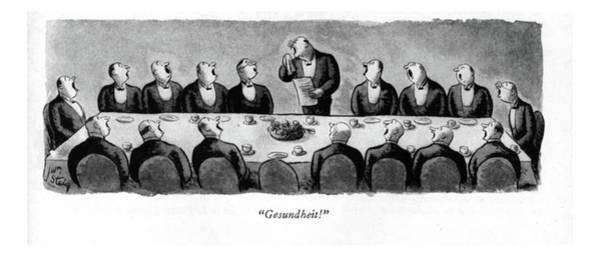 Speaker Drawing - Gesundheit! by William Steig