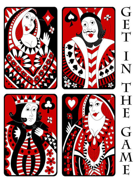 Deck Of Cards Digital Art - Get In The Game by Alison Stein