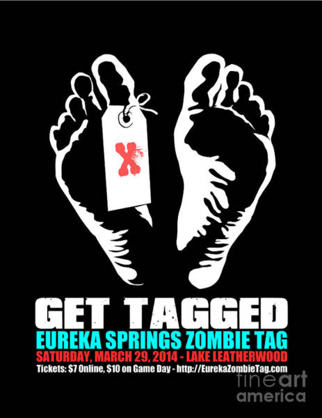 Versus Digital Art - Get Tagged At Eureka Springs Zombie Tag 2014 by Jeff Danos