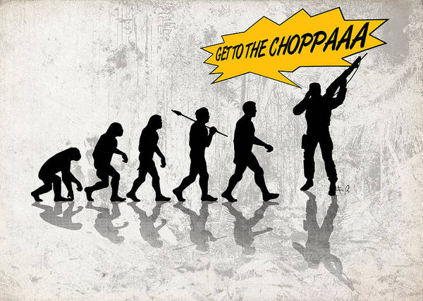 Fun Run Digital Art - Get To The Choppaaa by Filippo B