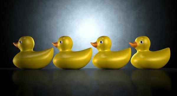 Rubber Duck Wall Art - Digital Art - Get Your Ducks In A Row by Allan Swart