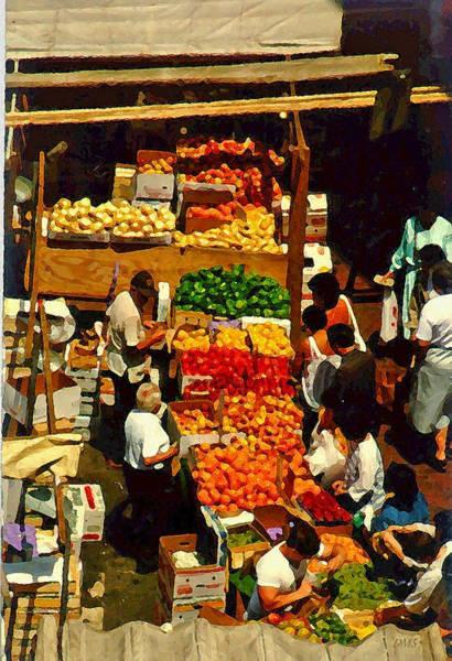 Quincy Market Digital Art - Getcha Fresh Fruit Here by David Schneider