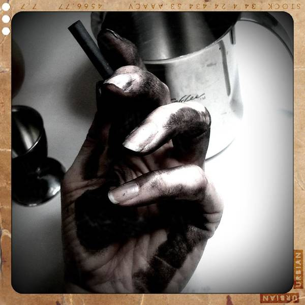 Charcoal Drawing Photograph - Getting Into My Work by Heather L Wright