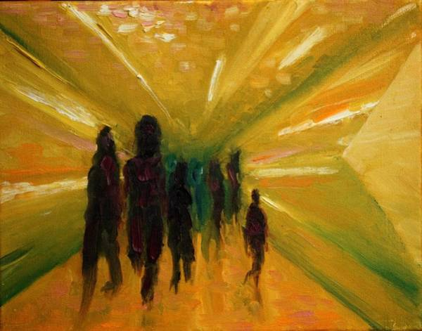 Interaction Painting - Getting To Where We Are Going by Lisa Stevens