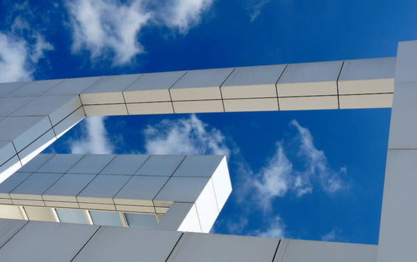 Photograph - Getty Musuem Architecture by Jeff Lowe
