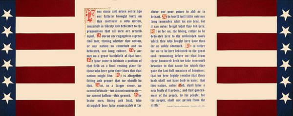 Lincoln Digital Art - Gettysburg Address by Gary Grayson