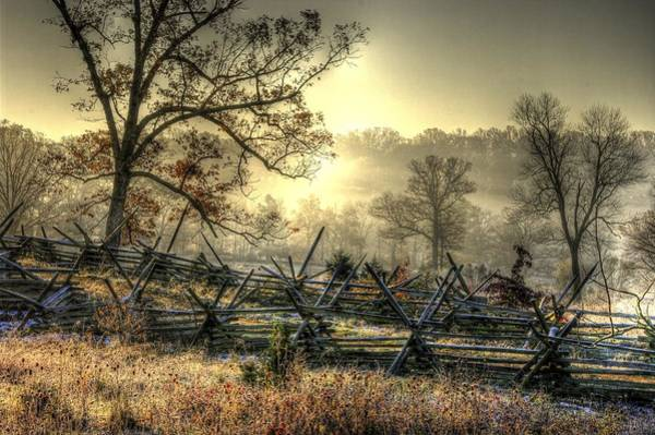 Wall Art - Photograph - Gettysburg At Rest - Sunrise Over Northern Portion Of Little Round Top by Michael Mazaika