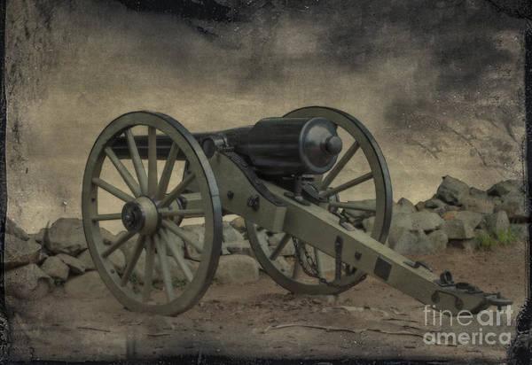 Artillery Digital Art - Gettysburg Battlefield Parrott Cannon by Randy Steele