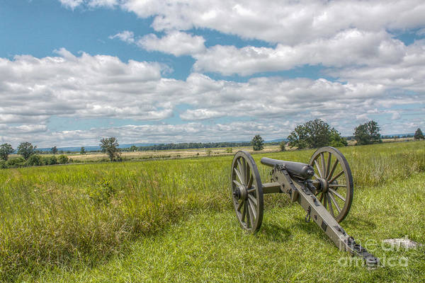 Gettysburg Battlefield Photograph - Gettysburg Battlefield Summer Cannon by Randy Steele