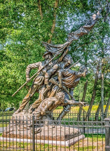 Photograph - Gettysburg Battleground Memorial by Bob and Nadine Johnston