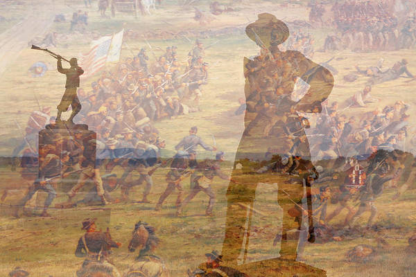 Cemetery Ridge Photograph - Gettysburg Composite Image by Randy Steele