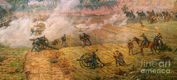 Gettysburg Cyclorama Detail One Art Print