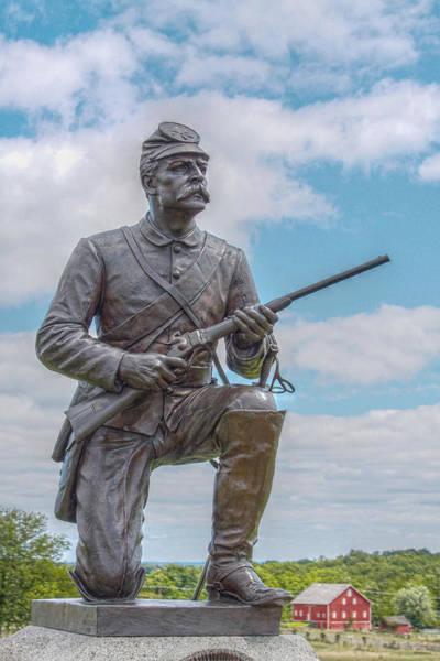 Cemetery Ridge Photograph - Gettysburg First Pennsylvania Cavalry Regiment by Randy Steele