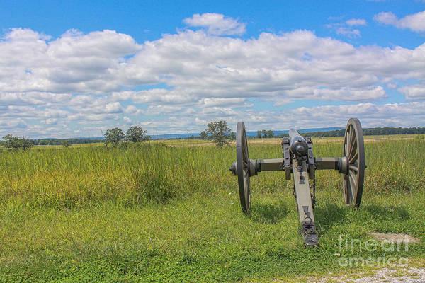 Cemetery Ridge Photograph - Gettysburg Summer Cannon Cemetery Ridge by Randy Steele