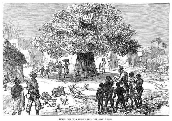 Ghana Painting - Ghana Cape Coast, 1874 by Granger