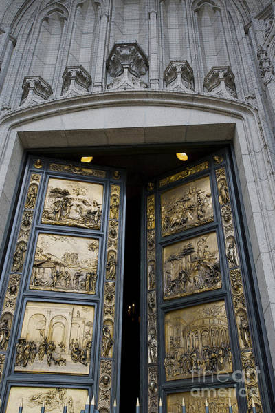Grace Cathedral Photograph - Ghiberti Doors by David Bearden