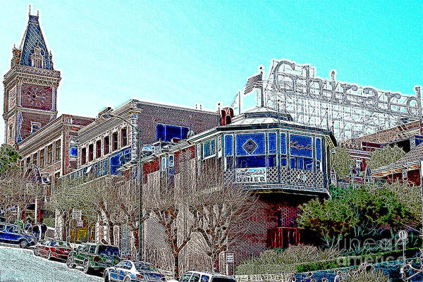 Photograph - Ghirardelli Chocolate Factory San Francisco California 7d14093 Artwork by Wingsdomain Art and Photography