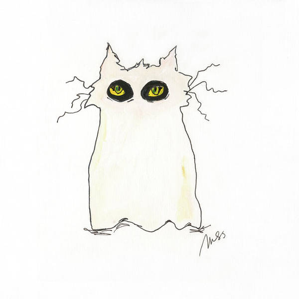 Wall Art - Painting - Ghost Cat by Molly Susan Strong