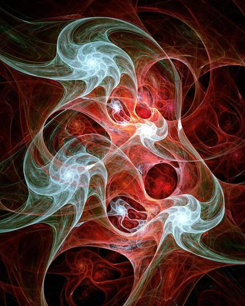 Wall Art - Digital Art - Ghost Flames by Anastasiya Malakhova
