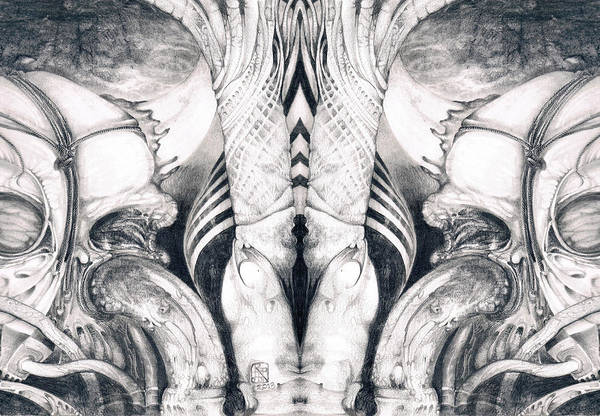 Ghost In The Machine - Detail Mirrored Art Print