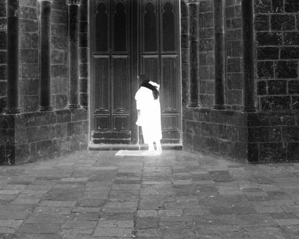 Holy Ghost Photograph - Ghost- Knocking On The Door by Munir Alawi