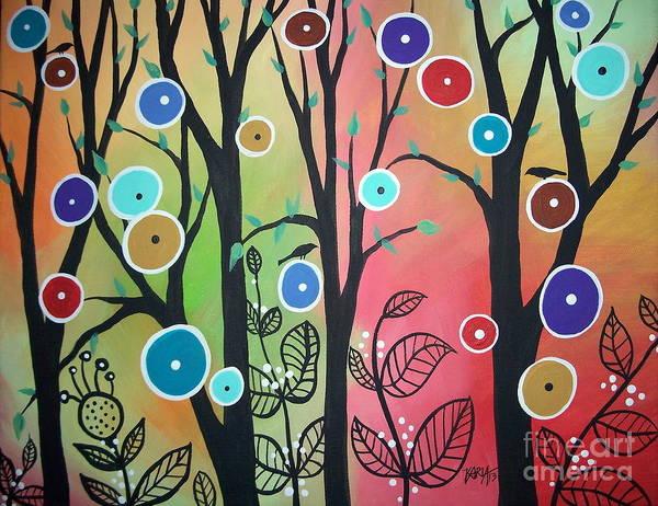 Blackbirds Painting - Ghost Leaves by Karla Gerard