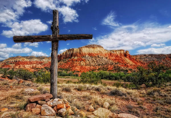 Photograph - Ghost Ranch Cross by Ghostwinds Photography