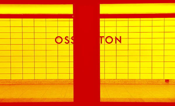 Wall Art - Photograph - Ghost Station In Red And Yellow by Valentino Visentini