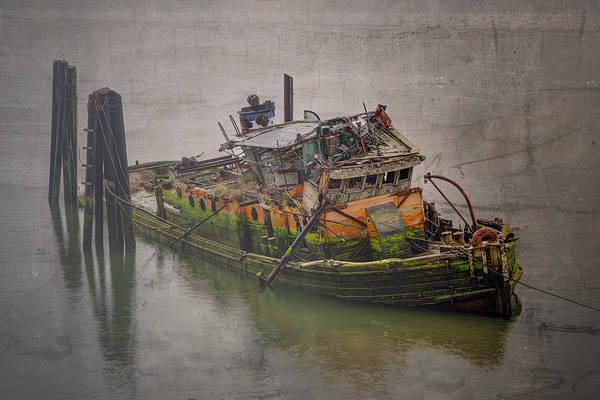 Tug Boat Photograph - Ghost Steamer by Debra and Dave Vanderlaan
