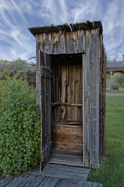 Montana Photograph - Ghost Town Outhouse - Montana by Daniel Hagerman
