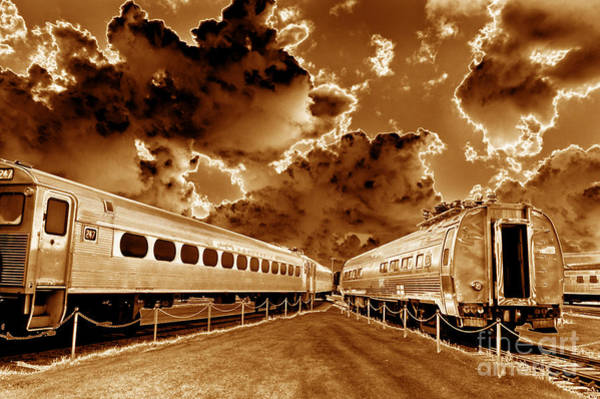 Solarized Photograph - Ghost Train - Toned by Paul W Faust -  Impressions of Light